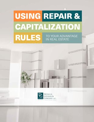 eBook: Using Repair & Capitalization Rules to Your Advantage in Real Estate
